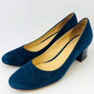 Women's Cole Haan Blue Suede Leather Pumps 9.5